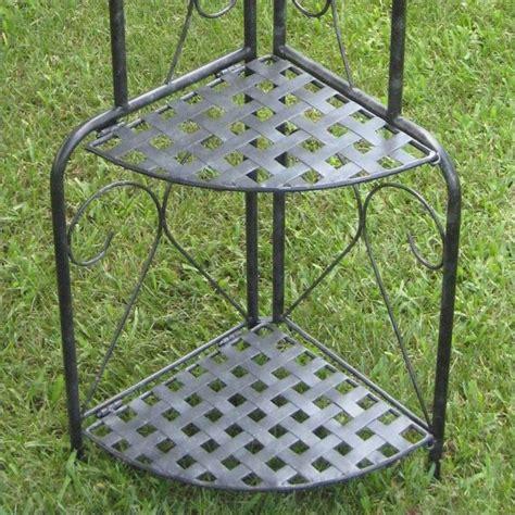 Rack Outdoor by Iron Folding Indoor Outdoor 4 Tier Bakers Rack 3465