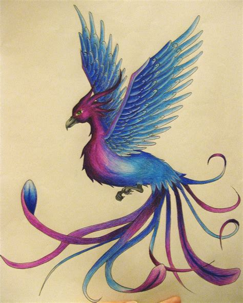 phoenix tattoo pretty blue aposnapos purple phoenix tattoos pinterest