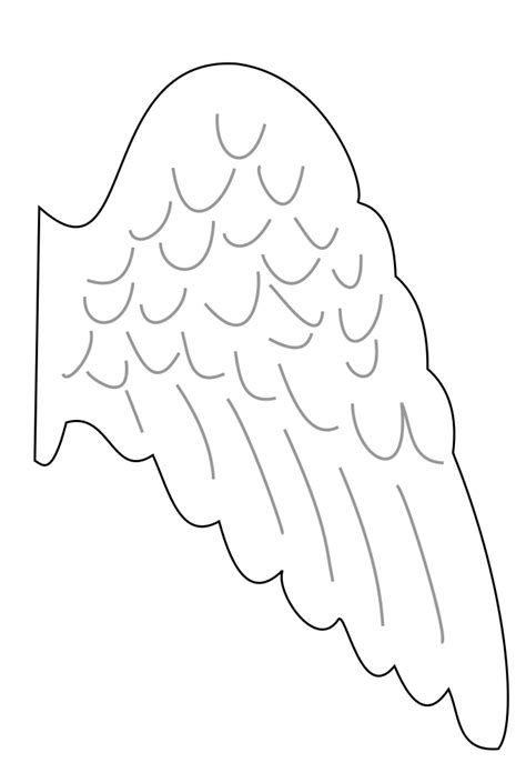 wing template clipart