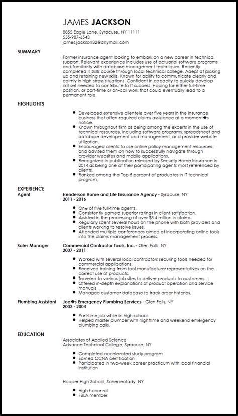 it specialist cv template free entry level technical support specialist resume