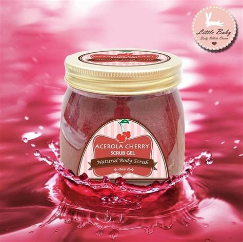Acerola Cherry Scrub Gel acerola cherry scrub gel by baby skincare