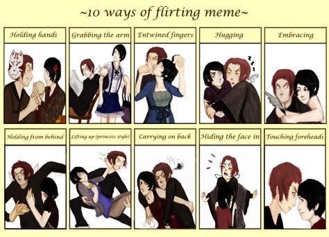 Flirting Meme - flirting meme niizumaxiwase by madalinka on deviantart