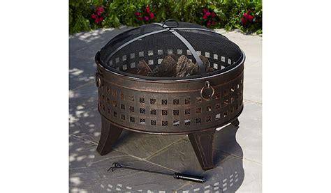 pits asda asda 70cm lattice pit log burner bbqs heating