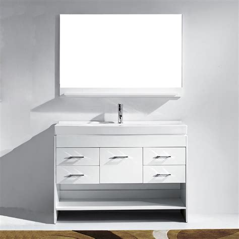 virtu marsala single bathroom vanity set with mirror