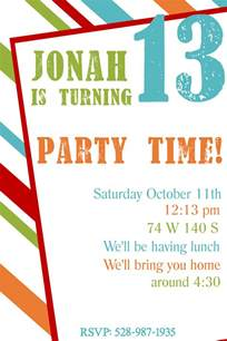 13th birthday invitation templates free free printable birthday invitation templates