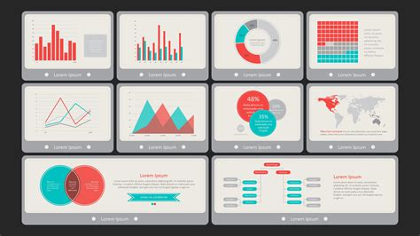 Powerpoint Dashboard Template flat vintage powerpoint dashboard slidemodel