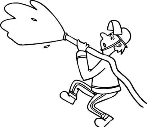 water hose coloring page fireman spraying hose coloring page coloring pages