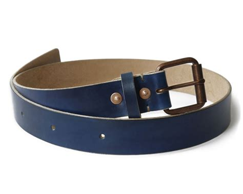Handcrafted Belts - yves klein blue leather belt s leather belt basader