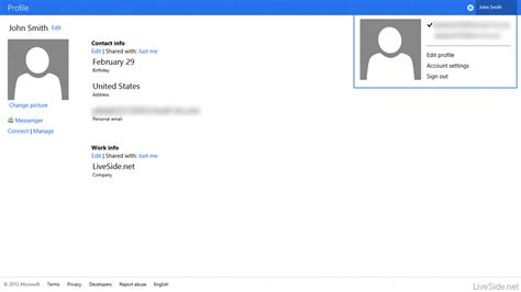 microsoft account login page updated with metro style wave metro style windows live profile screenshots emerge