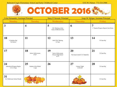 Cps Calendar Belmont Cragin Elementary School