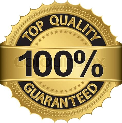 best quality top quality guaranteed golden label vector illustration
