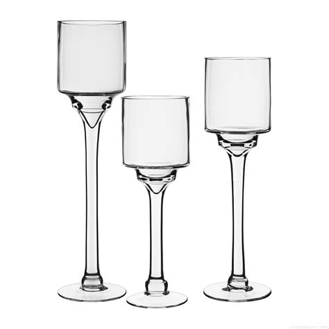 Glass Candle Holder Centerpiece by Set Of 3 Wedding Centerpiece Stem Candle Holder