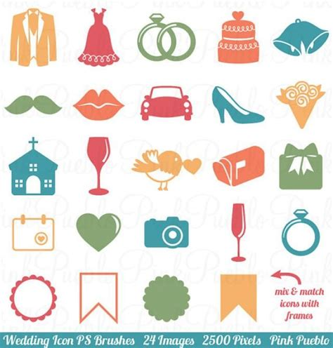 wedding invitation icons free wedding icons photoshop brushes bridal or wedding