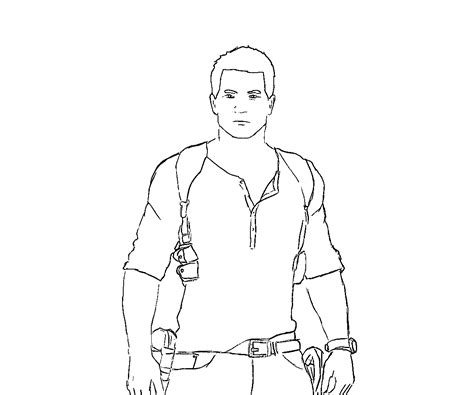 Uncharted 4 Coloring Pages by Uncharted Coloring Pages Coloring Pages