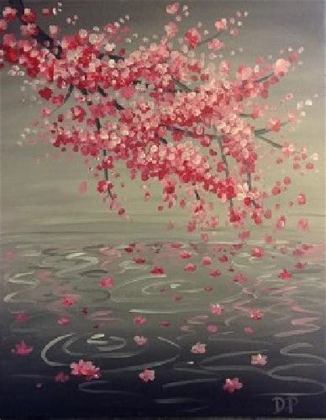 paint nite japanese cherry blossoms learn to paint cherry blossom reflection