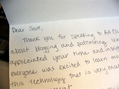 Hand Written Thank You Notes: A Great Learning Opportunity
