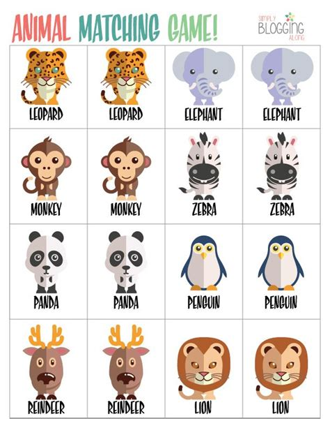 free printable zoo animal crafts free printable matching games for toddlers