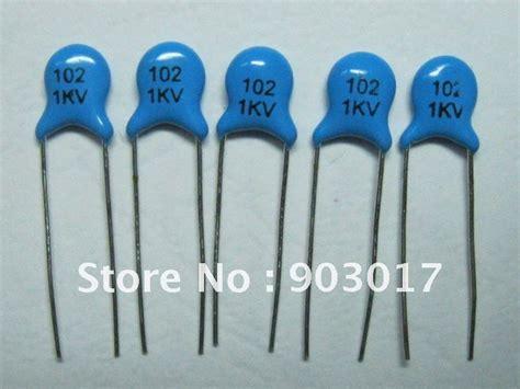 102 1kv capacitor ceramic disc capacitors 1000v 1kv 102pf 0 001uf 1nf 1000pf 5mm 100 pcs per lot sale in