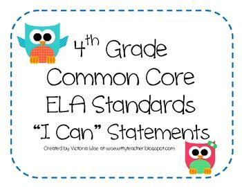 theme definition common core 4th grade common core ela standards i can statements