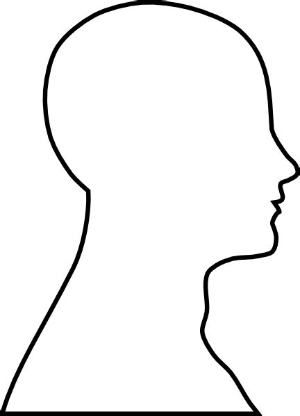 headshot template outline clip vector clip royalty