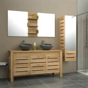 meuble de salle de bains plus de 120 brun marron