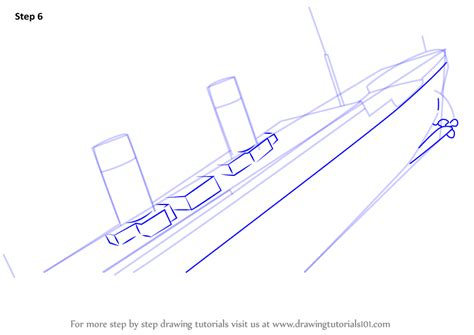 learn how to draw titanic sinking boats and ships step - How To Draw A Boat Sinking
