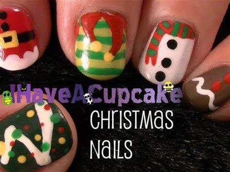 easy christmas nail art youtube christmas nail art youtube