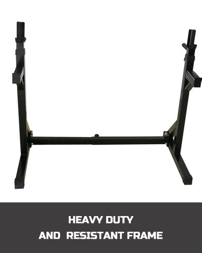 Dip Bars For Squat Rack by Home Fitness Adjustable Squat Rack With Dip Bars Ebay