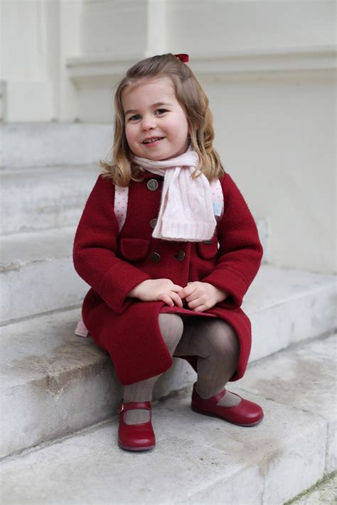 princess charlotte princess charlotte arrives for her first day of school