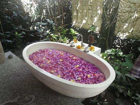 flower bathtub flower bath at the end of massage picture of karsa spa ubud tripadvisor