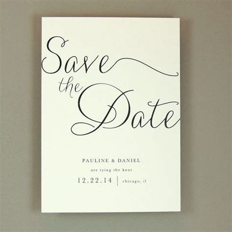 Save The Date Wedding by Pauline Suite Modern Wedding Save The Date