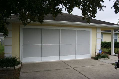 Ontrack Garage Doors Sliding Garage Screen Doors Michele S Hide Away Screens