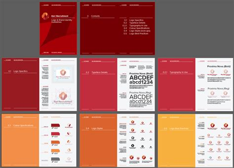 visual style guide template 6 best images of brand identity guide logo brand
