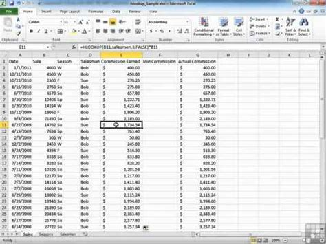 excel 2010 full tutorial youtube examples of hlookup function in excel 2010 youtube