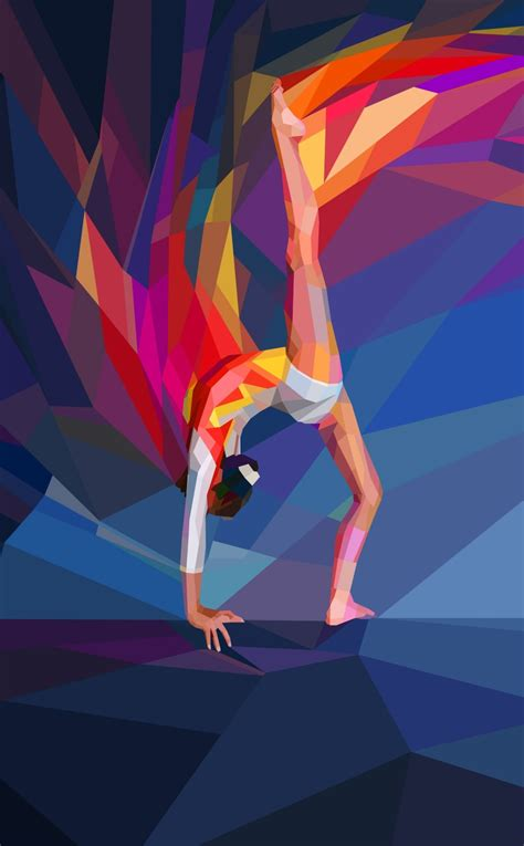 gymnastics  poly painting hd  wallpaper