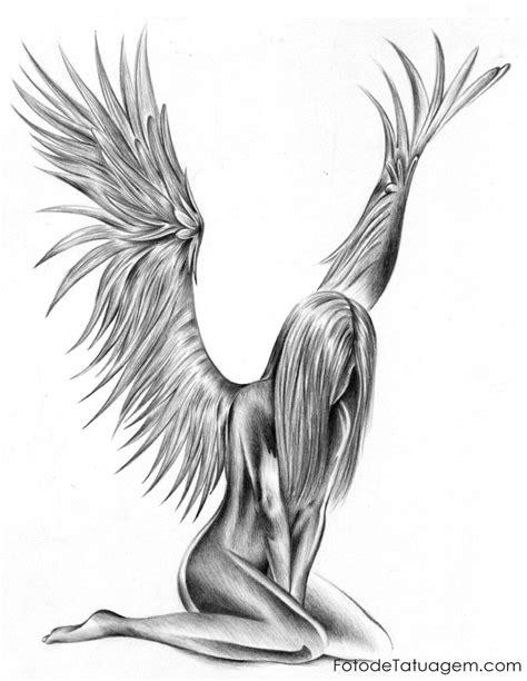 desenhos para tatuagem de anjo foto de tatuagem