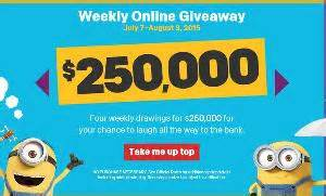 Mcdonalds Instant Win Cash - contest mcdonald s minion mania instant win game 250 000 per week