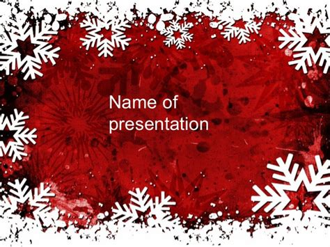 cornici powerpoint snowflakes frame powerpoint template