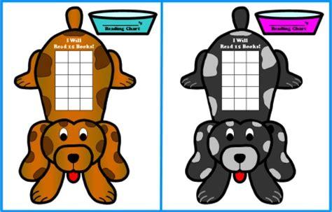 Free Sticker Chart Templates Dog Shaped Reading Sticker Charts For   dog sticker chart custom sticker