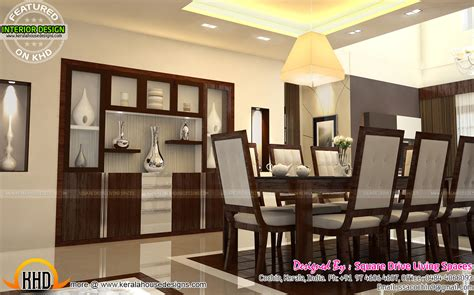 dining kitchen living room interior designs kerala home interior designs of master bedroom living kitchen and