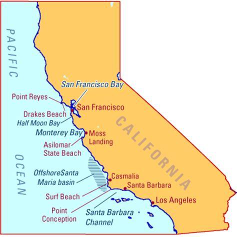 california map of beaches map of california beaches arema