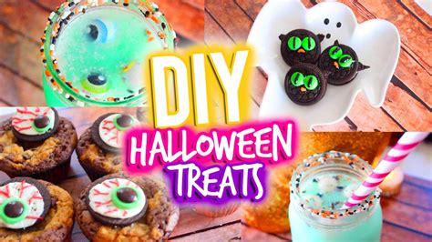 easy diy halloween treats youtube