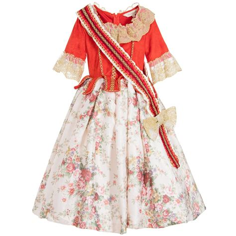 design dress up dress up by design red ivory floral countess dress