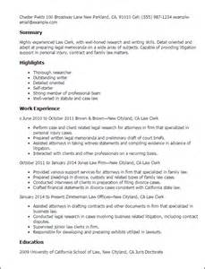 Court Clerk Resume by Professional Clerk Templates To Showcase Your Talent Myperfectresume