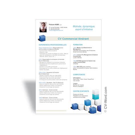 Modele Cv Commercial Word by Mod 232 Le De Cv Original 224 T 233 L 233 Charger Au Format Word