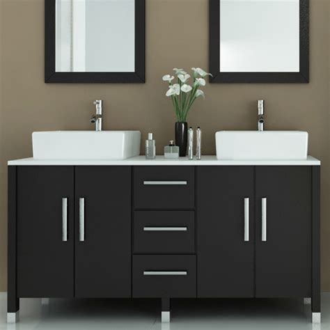 Modern Bathroom Sink Vanity 59 Quot Sirius Bathroom Vanity Modern By Bathgems