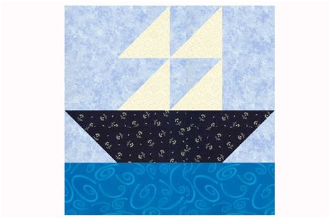 Boat Quilt Block Pattern by Sailboat Quilt Block Pattern In Two Sizes