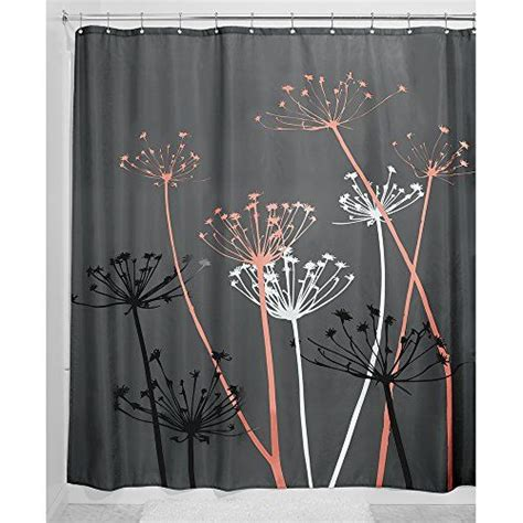 thistle shower curtain interdesign thistle shower curtain 72 x 72 inch gray
