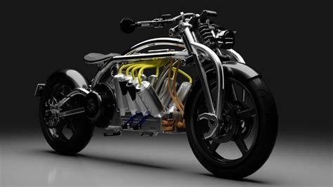 curtiss zeus radial  electric cruisermotorcycle