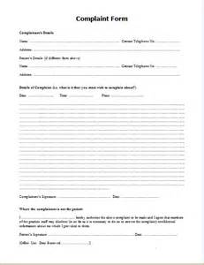 Complaint Forms Template by Doc 460595 Complaint Form Customer Complaint Form